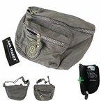 Freizeit Bauchtasche Gürteltasche Wandertasche Hüfttasche #5631 crinkle grau