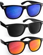 UVprotect® Sonnenbrille Wayfarer Design verspiegelt SetA W02