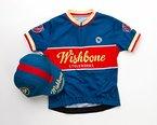 Wishbone Bike Shirt und Casquette - Fahrradshirt und Schirmmütze, Blau (L)