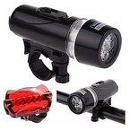Nestling® LED-Beleuchtungsset LED Scheinwerfer Vorder und Rücklicht inkl Halterung Universalhalterung