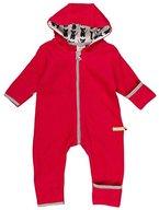 loud + proud Unisex Baby Schneeanzug Overall Fleece, Rot (Purple Pu), 92 (Herstellergröße: 86/92)