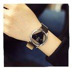 Genießen Armbanduhren Chronograph Uhr Edelstahl Uhrarmband Dreieck (1)