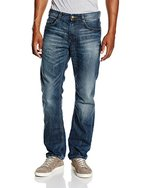 TOM TAILOR Herren Straight Leg Jeanshose 1/1 Marvin, Gr. W34/L34 (Herstellergröße: 34), Blau (mid stone wash denim 1052)
