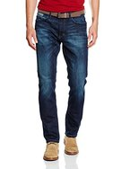 TOM TAILOR Herren Jeanshose Jeans Uni Josh Regular, Blau (Stone Blue Denim 1095), W33/L32 (Herstellergröße: 33)