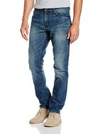 TOM TAILOR Herren Jeanshose Jeans 1/1 Josh Regular Slim, Grau (Mid Stone Wash Denim 1052), W34/L36 (Herstellergröße: 34)