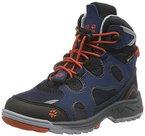 Jack Wolfskin Unisex-Kinder Crosswind WT Texapore Mid K Trekking-& Wanderstiefel, Blau (Night Blue 1010), 36 EU