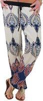 Damen Hose Strandhose Stoffhose mit Eingrifftaschen Modell 10 5A-32