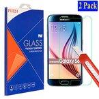 2x Samsung Galaxy S6 plt24 Ultra-Klar Glasfolie Panzerglas Schutzfolie Displayschutzglas Schutzglas Hartglas für Samsung Galaxy S6 (2 Stück)