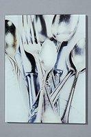 Bild Cutlery Glasbild Besteck Küchenbild Glas