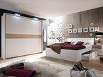 MILENA Komplett Schlafzimmer weiß/Eiche Sonoma