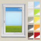 OUBO Plissee Jalousie Klemmfix ohne Bohren 55 x 120 cm (BxH) Blau Sichtschutz Klemmträgern für Fenster & Tür