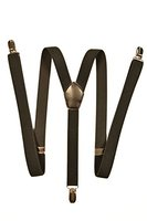 Hosenträger mit 3 Clips - Modell 'Skinny' 2cm. Schwarz