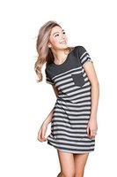 Suntasty Damen Gemütlich Nachthemd Kurz Sleepshirt(Grey,XL,1004W)