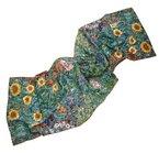 Prettystern P929 - 160cm Malerei Kunstdruck Schal aus 100% Seide Gustav Klimt - Bauerngarten mit Sonnenblumen