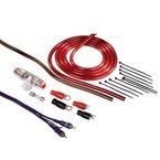 Hama Anschluss-Set für Car Hifi-Verstärker, AMP-Kit mit Powerkabeln (10 mm²), Cinchkabel, Sicherungshalter, Sicherung, Gabelkabelschuhen und Kabelbinder