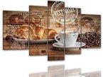 BILDER-MANUFAKTUR, LEINWANDBILDER, KUNSTDRUCK, WANDBILD, BILD, BILDER, 7952-1, XXL KAFFE TASSE BOHNEN MILCH SÄCKE KAFFEEBOHNEN CAFE