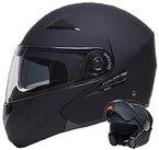 Klapphelm Integralhelm Helm Motorradhelm RALLOX 109 schwarz/matt mit Sonnenblende (S, M, L, XL) Größe S