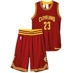 adidas Jungen Trikot Cleveland Cavaliers Kit, rot, 140, AC4573
