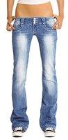 Bootcut Jeans Hüftjeans Gr.42/XL Damenjeans Denimblue Neu T4