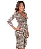 KRISP Damen Jersey Kleid Wickelkleid_(6487-MOC-14)