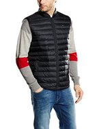 Tommy Hilfiger Herren Daunenjacke Weste PACKABLE LW DOWN VEST, Gr. Large, Schwarz (FLAG BLACK 083)
