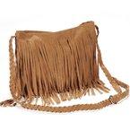 Fashion Fransen Damentasche Handtasche Schultertasche Umhängetasche künstliche Wildleder mehre Farben