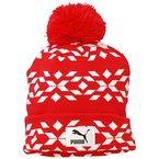 PUMA Mütze Graphic Beanie, Eggnog White-Lipstick Red, One size, 834028 27