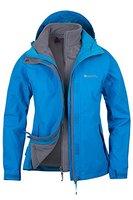 Mountain Warehouse Damen Storm 3 In 1 Wasserdichte Regenjacke Fleece Mantel Jacke Neu Multifunktionsjacke Regenjacke Türkis DE 40 (EU 42)