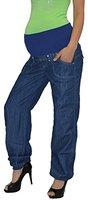 Schwangerschaftshose Umstandshose Damen Hose für Schwangerschaft in schwarz und blau U-J133