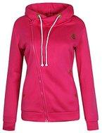 ELFIN®Damen Sweatjacke sportlich-elegant mit Zipper Kapuzenpullover Hoodie Sweater Sweatjacke
