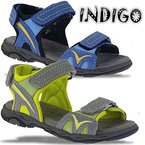 INDIGO sportliche Sandale aus Leder sehr weich 2 Farben NEU Gr.24-42 grautöne EUR 39