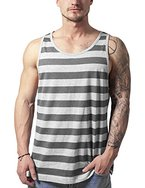 Urban Classics Herren Top Stripe Big Tank, Mehrfarbig (Gry/Cha 443), Medium