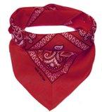 Bandana Kopftuch Halstuch gemustert in 24 verschiedenen Farben! (rot)