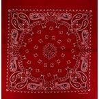 Bandana / Bandanas mit exclusivem Paisley Muster in reiner Baumwolle, Rot, 55x55cm