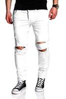 MT Styles Destroyed Jeans Slim Fit Jeans RJ-2021 [Weiß, W31/L32]