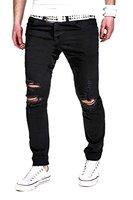 MT Styles Jeans Slim Fit RJ-2007 [Schwarz, W33/L34]