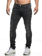 TAZZIO Slim Fit Herren Destroyed Look Stretch Jeans Hose Denim 16525 30/32