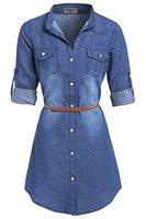 SS7 neue Retro Denim Blau Hemd Kleid Größen eu 36 - 14 - Denim Blau, 44
