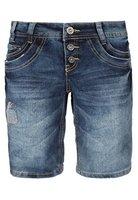 Urban Surface Damen Jeans Bermuda-Shorts | Kurze Hosen aus Denim für den Sommer dark-blue L