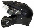 Motorradhelm MX Enduro Quad Helm matt schwarz mit Visier und Sonnenblende Gr. L