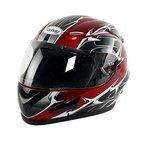 Yorbay Motorradhelm Integralhelm Sturzhelm Helm mit verschienden Typen & in unterschiedlichen Größen (Rot, XL)