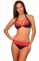 aQuarilla Damen Bikini Set Barbados (Graphite/Coral, 42)