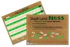 Stadt Land Nuss, das kreativste Stadt Land Fluss aller Zeiten, Spiele-Block im handlichen Din A4-Format mit 34 Kategorien
