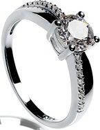 Lars Benz LUXUS Damen-Ring Verlobungsring Silber 925 Swarovski Zirkonia 1,4 Karat 51-mm