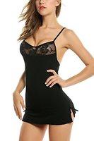 Avidlove Sexy Damen Nachthemd kurz Negligee Nachtwäsche Babydoll Lingerie Kleid Dessous mit G-String und Spitze Dekoration