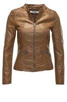 Only Damen Kunstlederjacke London PU Jacket 15098442 Cognac M