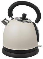 Grafner® Retro-Wasserkocher Edelstahl 1,8l beige matt max. 2200W Design-Wasserkocher