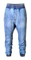 Brinny Damen Jeanshose Capri Harem hose Baggy Boyfriend Jeans Capri-Jeans Bermuda Jeans-Shorts Stretch-Denim Elastische Taille