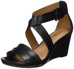 Clarks Damen Acina Newport Knöchelriemchen, Schwarz (Black Leather), 41.5 EU