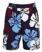 moderne Jungen Badeshort mit floralem Muster in blau, Größe 164